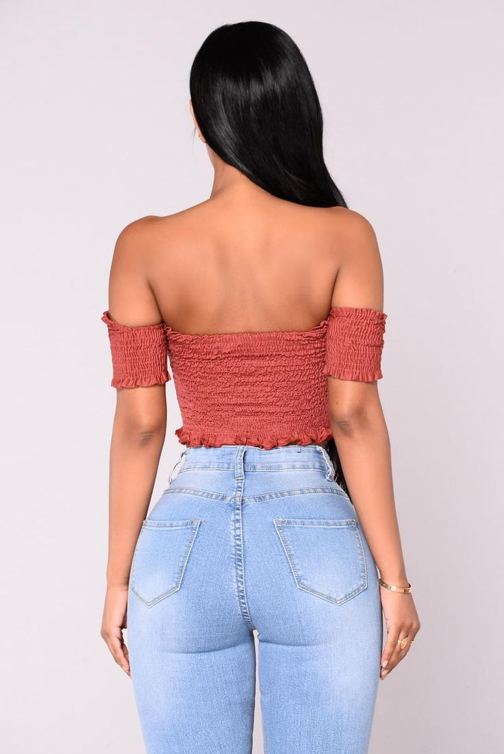 Surrounded By Your Embrace Top - Rust