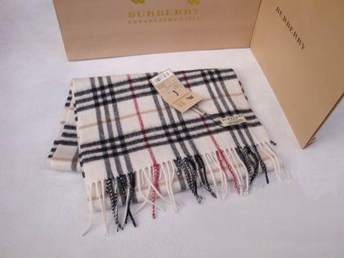 Burberry Ivory Nova Cashmere Scarf - $125.00 : burberry scarf, burberry scarves