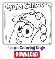 Laura Carrot Coloring Page Printable