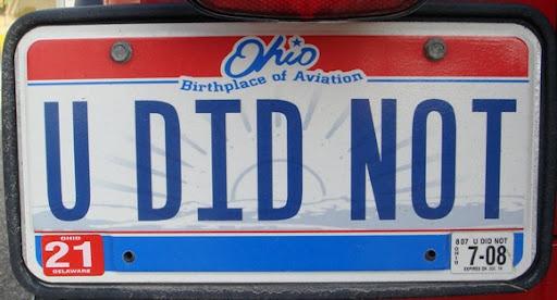Gotta love vanity license plates:)