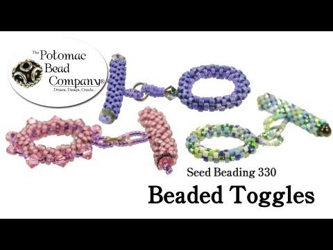 How to Make Beaded Toggle Clasps (Seed Beading 330) - YouTube