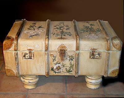 suitcase table from MANYSHADESOFSHABBY