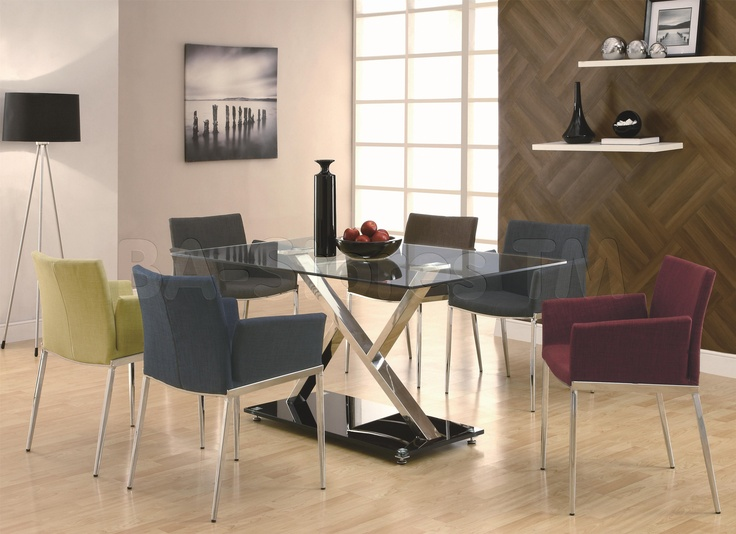 coaster dining 120 xy dining table with chrome base coaster fine furniture