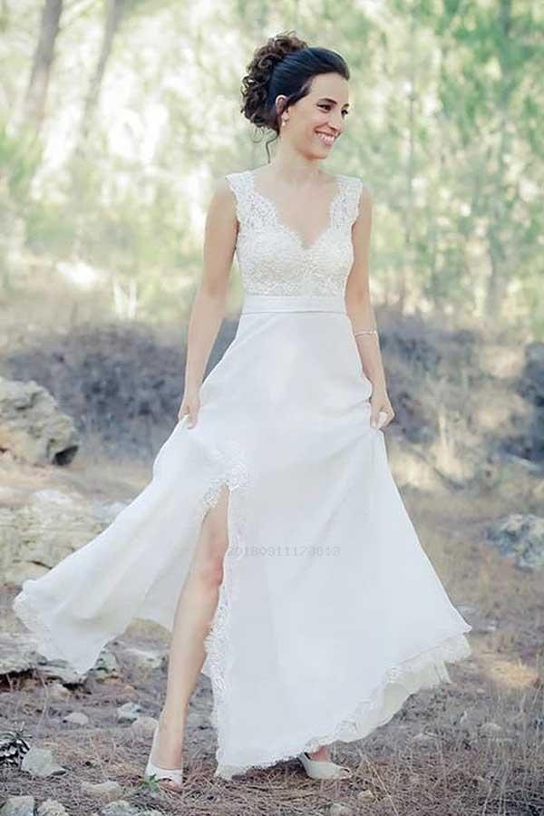 Cheap Beautiful V Neck Wedding Dresses a403246d0
