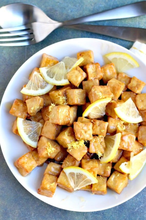 Air Fryer Lemon Tofu