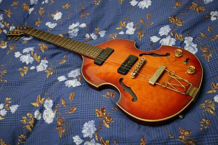 Yamaha Guitar Violin. Yamaha Violin shaped solid body guitar . It's not a hollow body guitar! The F-holes are fake.