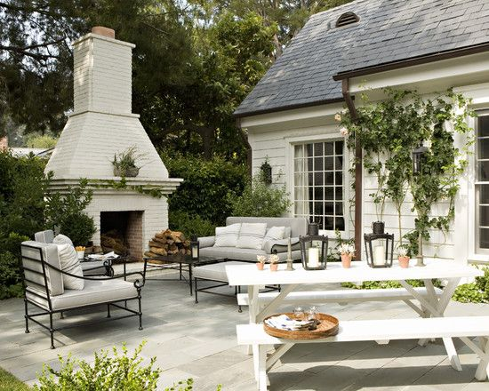 Outdoor fireplace, Painted Brick Design, Pictures, Remodel, Decor and Ideas - page 14