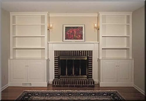 built+in+bookcases+around+fireplace   Built-in bookcases around a shallow fireplace?? - Home Decorating ...