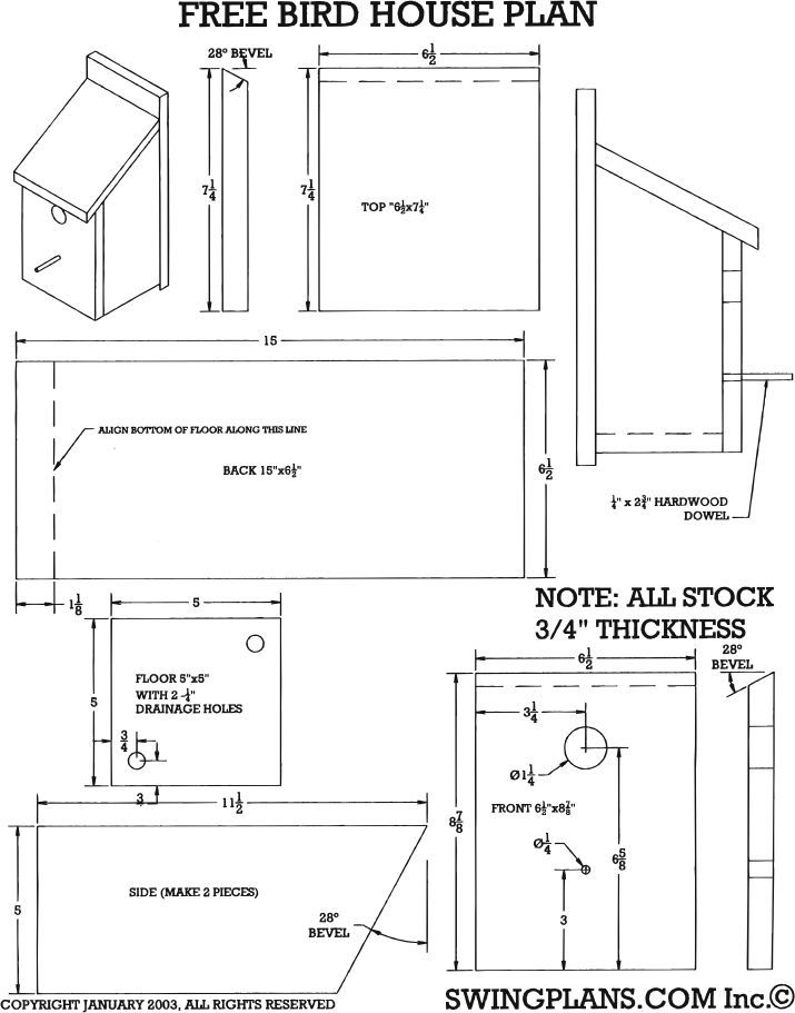 9 Bat Box Plans Pdf in 2020 | Bird house plans free, Bird ...