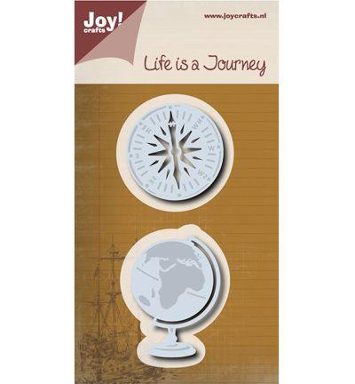 Joy Cutting & Embossing stencil Aardbol/kompas