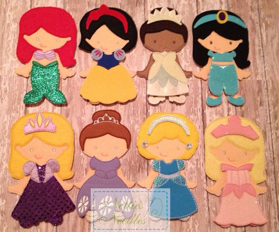 Complete Princess Set by NettiesNeedlesToo on Etsy, $120.00