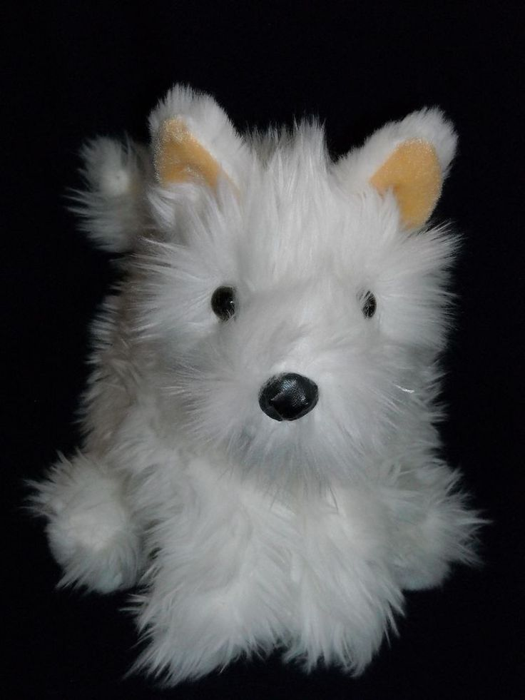 "12"" WESTIE HIGHLAND TERRIER white puppy dog TOYS""R""US"