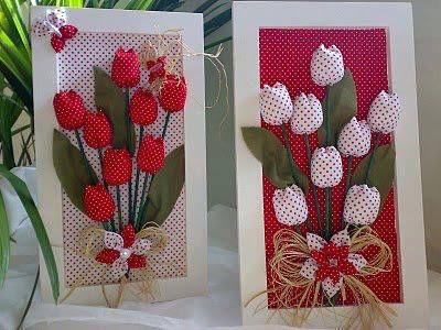 tulipas de tecidos