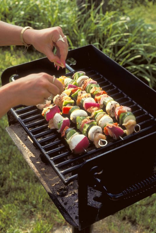 This article provides tips for using both wooden and metal skewers when grilling, from The Old Farmer's Almanac.