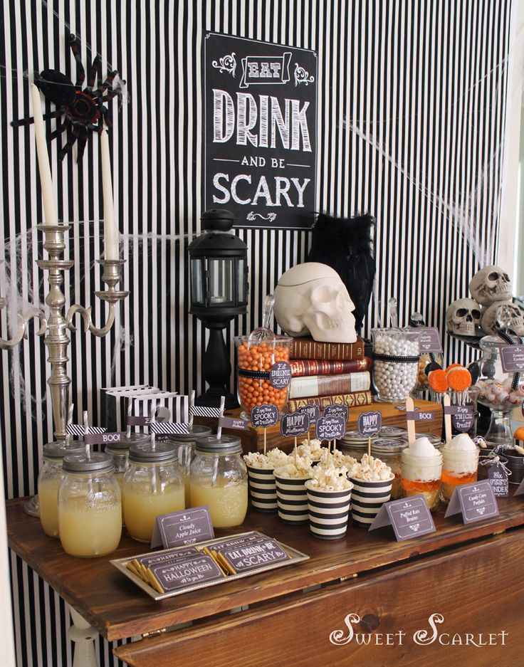 eat drink be scary halloween dessert table halloween steampunk - Scary Halloween Dessert