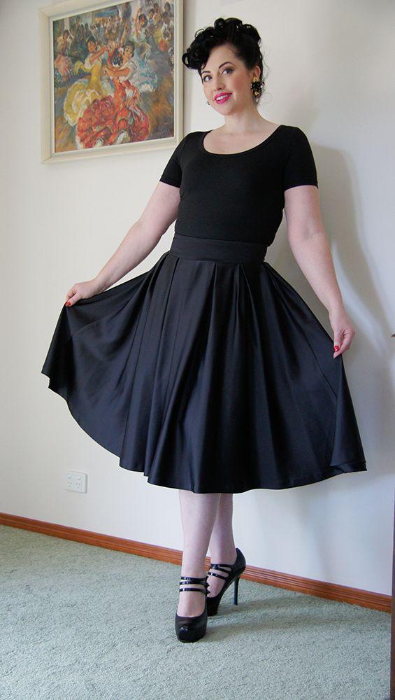 'Gabrielle' top in black by Peta Pledger Model: Candice DeVille Skirt & shoes: Model's own