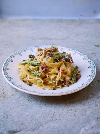 Add some excitement to your tagliatelle, this is a dish the whole family will love, it includes asparagus, crispy pancetta and parmesan; a delicious combination.