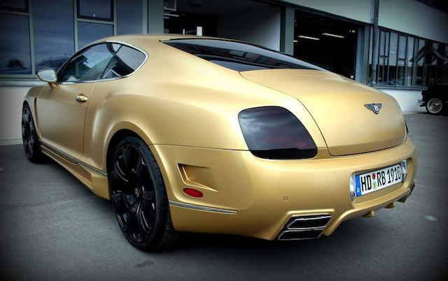 Matte Gold Bentley Continental GT