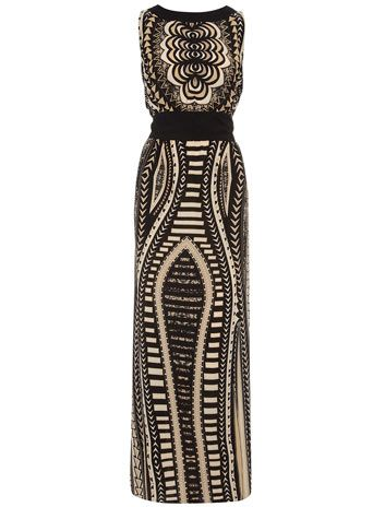Taupe and black #tribal maxi dress from @Dorothy_Perkins.  This is coming to my closet and an outfit post soon!