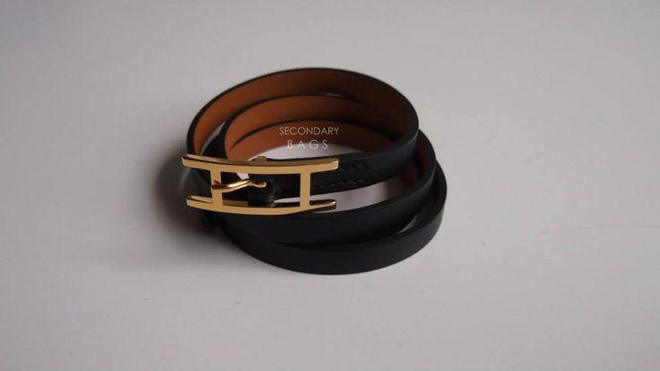 (BNIB) Hermès Hapi Bracelet Black Ghw