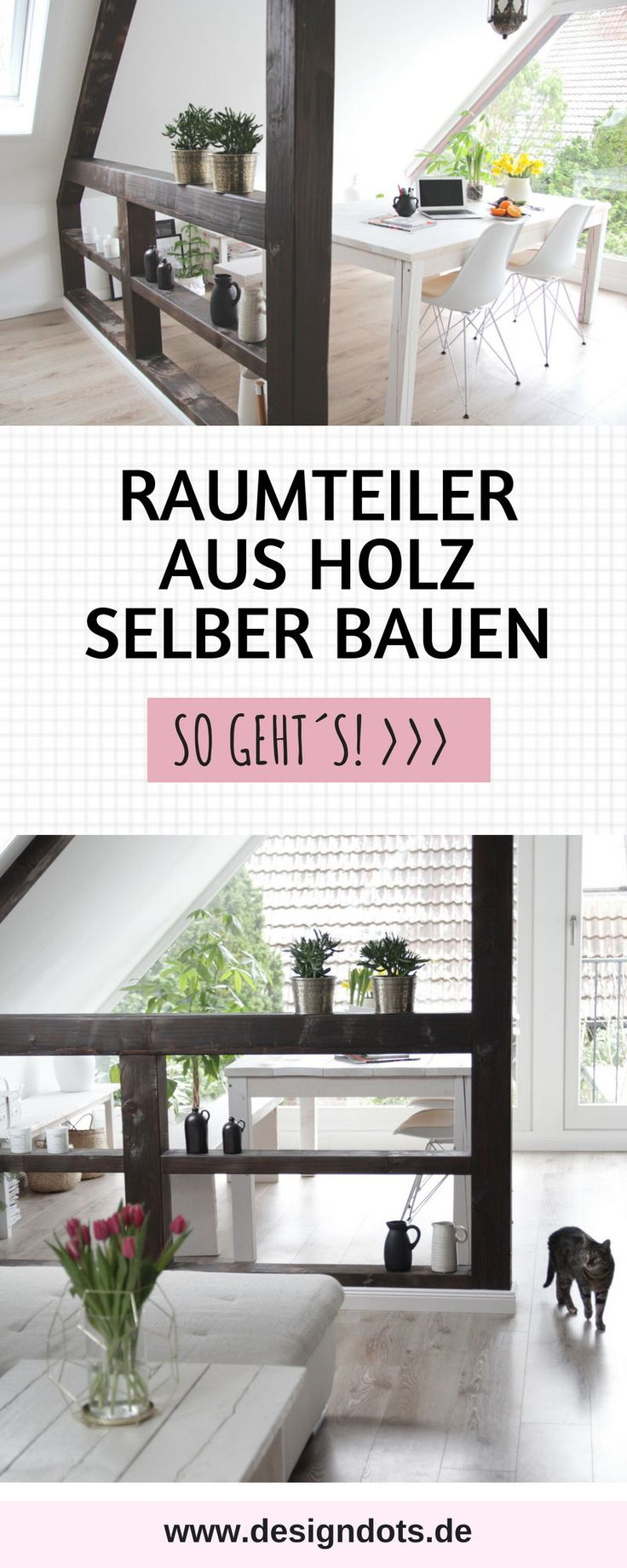 Build room divider in half-timbered look yourself