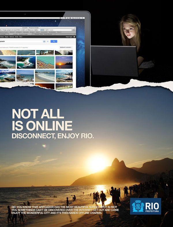 Disconnect, enjoy Rio Print Advertisement