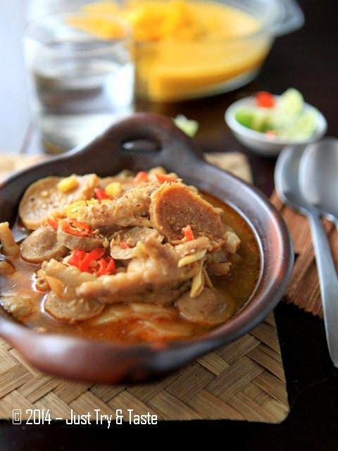 Just Try & Taste: Seblak Basah Ceker Ayam dan Bakso a la JTT