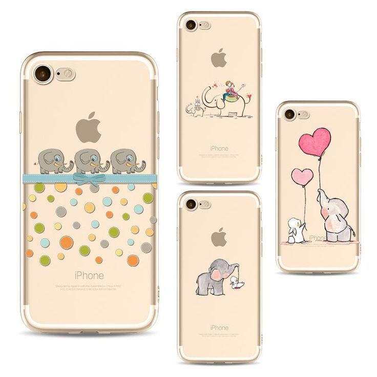 Cute Elephant Phone Cases For Iphone 6 6s 6 Plus 7 7s 7plus - Kaptelli Store
