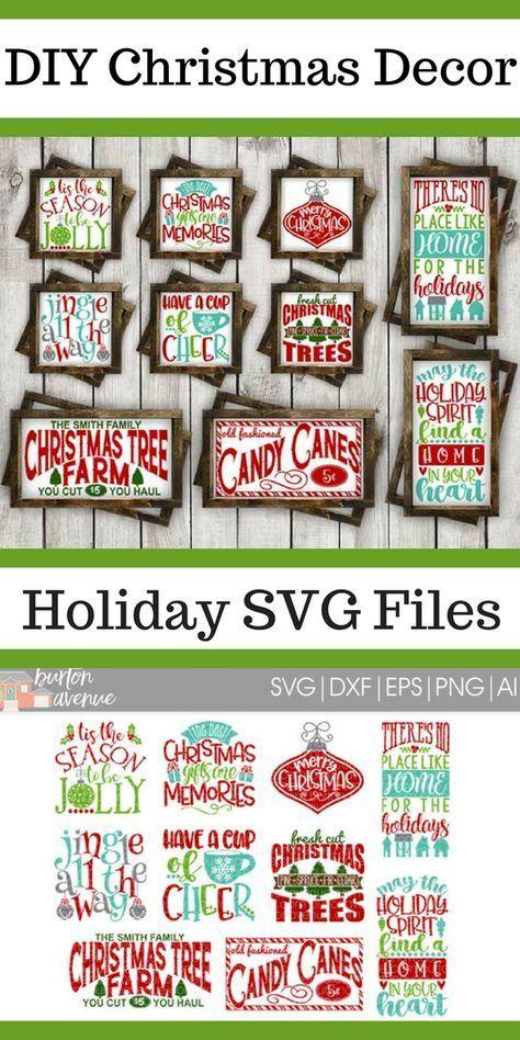 Christmas SVG Bundle Cut Files For Cricut Silhouette
