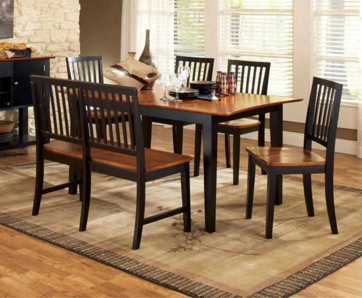 Dining Room 6 Piece Set Plastic Chair Covers Casual Table Sets