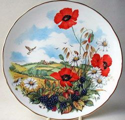 Royal Albert - As Seasons Unfold - Collector Plates www.royalalbertpatterns.com--- Summer Sun Warms Hearts and Flowers