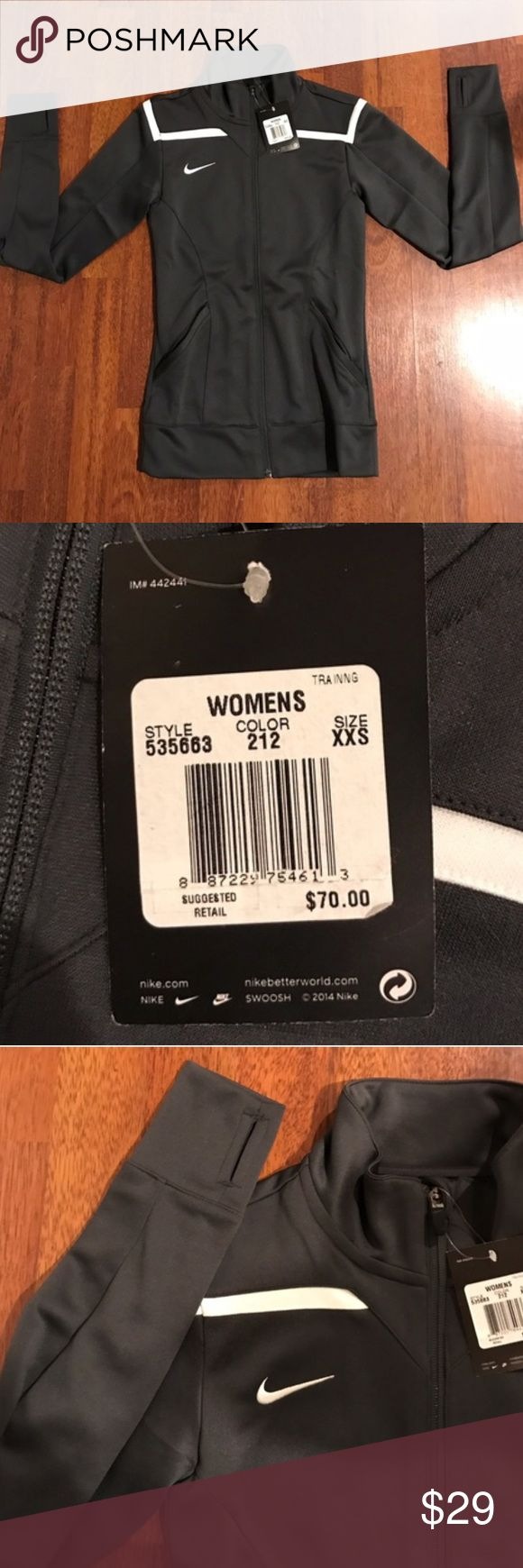 Women's Nike jacket Size xxs, Nike dri fit material with thumb holes Nike Jackets & Coats