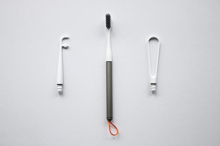 The handle is made out of medical-grade aluminum and comes with a lifetime guarantee. Three interchangeable heads--a toothbrush, a flosser, and a tongue scraper--are all compostable.