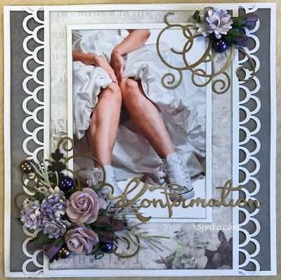 En bestillig på et feminint konfirmations kort :)  Det blev et staffili kort          Bagside