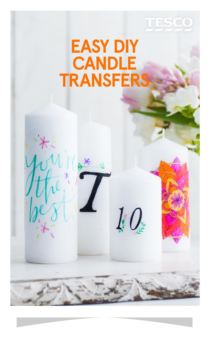 Surprise a loved one with a delightful personalised candle. | Tesco