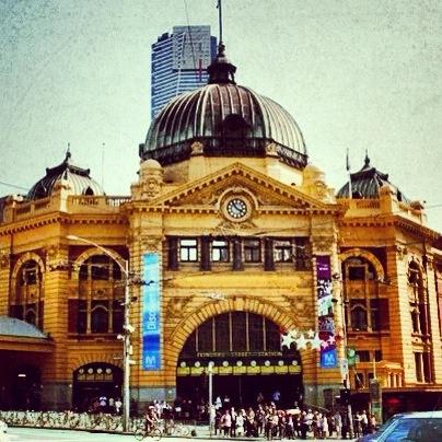 Flinders St station, Melbourne Australia