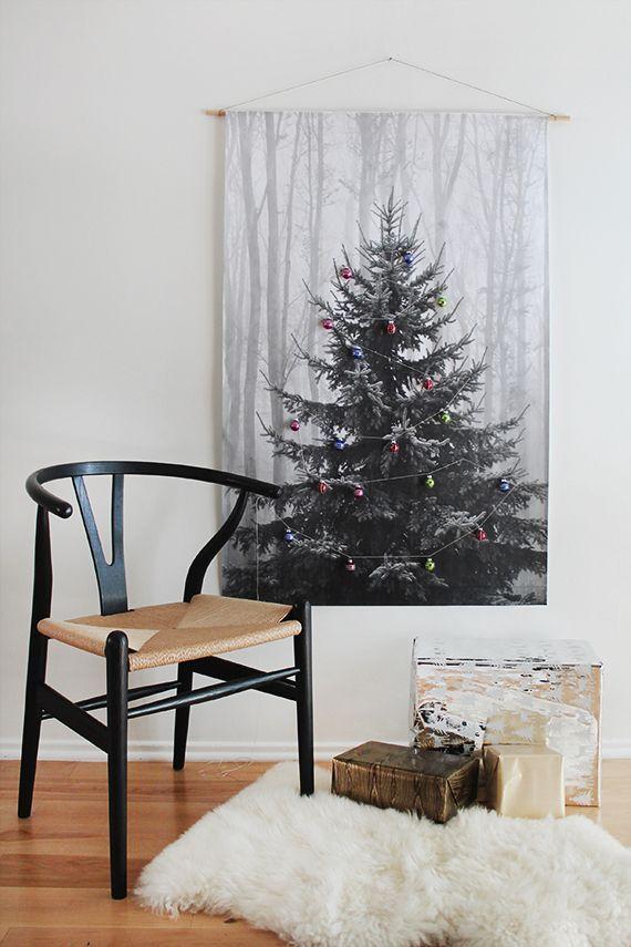 diy makeshift christmas tree