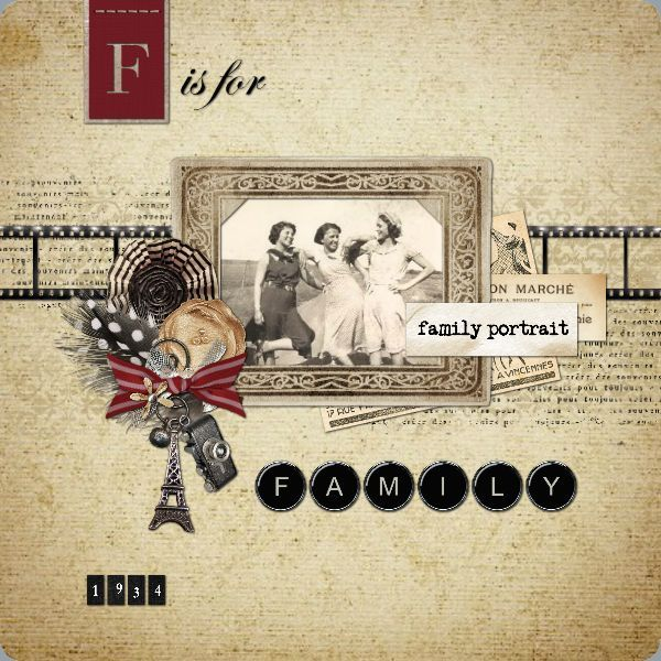 F is for Family TEMPLATE: 122685 By Roxanne Buchholz 12 x 12 Metal Print Give a loved one this beautiful metal print to celebrate family - either past or present.