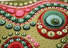 Beads!: Color, Felt Textiles, Buttons Art, Textiles Art, Felt Embroidery, Beads, Felt Appliques, Photo, Textile Art