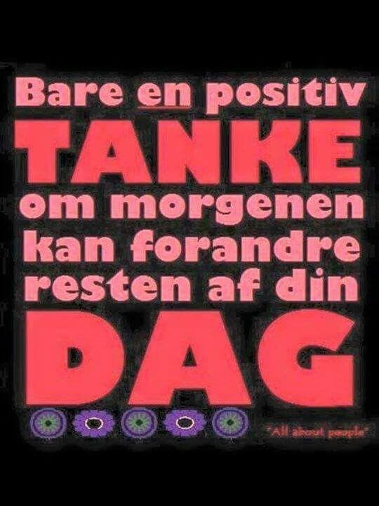 Tænk positivt