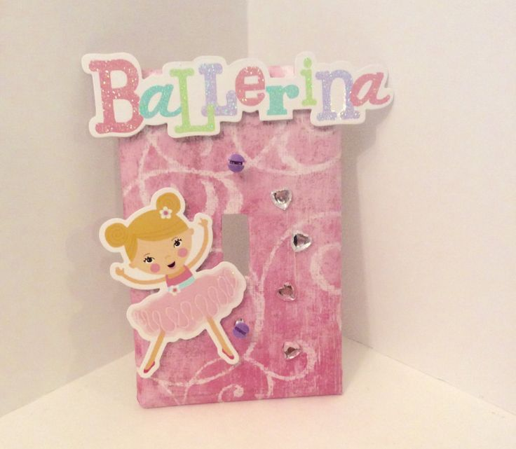 Ballet Light Switch Cover, Ballerina Switchplate, Ballet Nursery Decor - pinned by pin4etsy.com