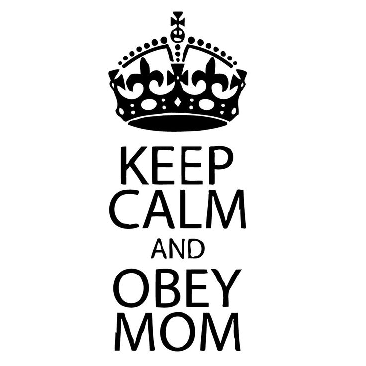 'Keep Calm and Obey Mom' Vinyl Wall Decal