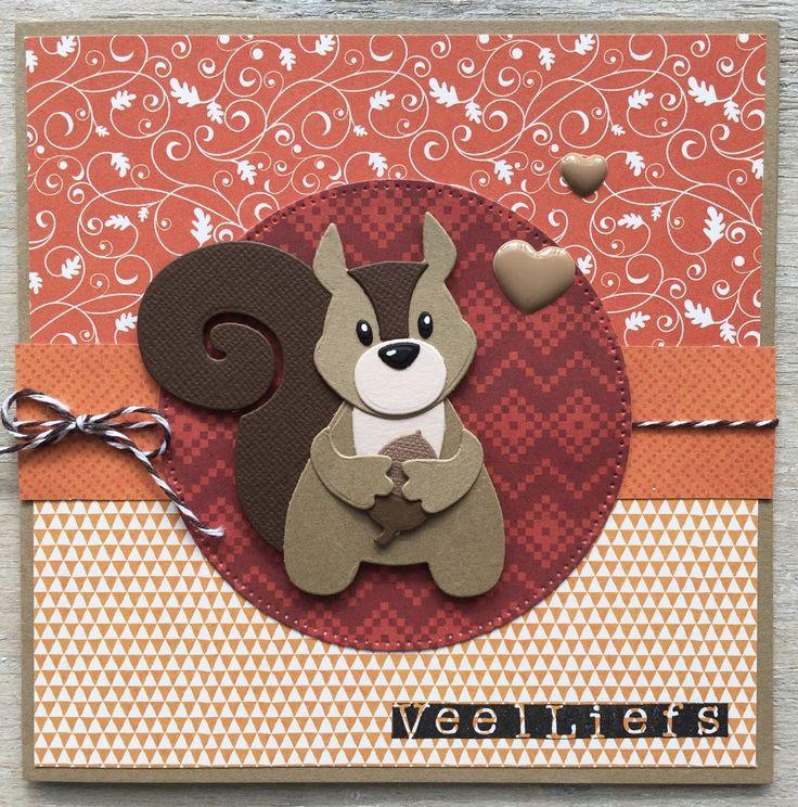 LindaCrea: Eekhoorn #4 - Veel Liefs