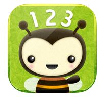 This is a cute app that works on one to one correspondence for numbers 1-20. Drag bees one at a time onto flowers. It follows the path you drag and then counts the bees for you. For Occupational Therapists this also works on visual discrimination and fine motor precision. https://itunes.apple.com/us/app/counting-bees/id481053635?mt=8