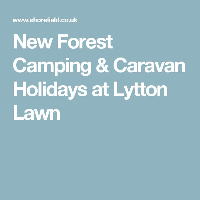 New Forest Camping & Caravan Holidays at Lytton Lawn