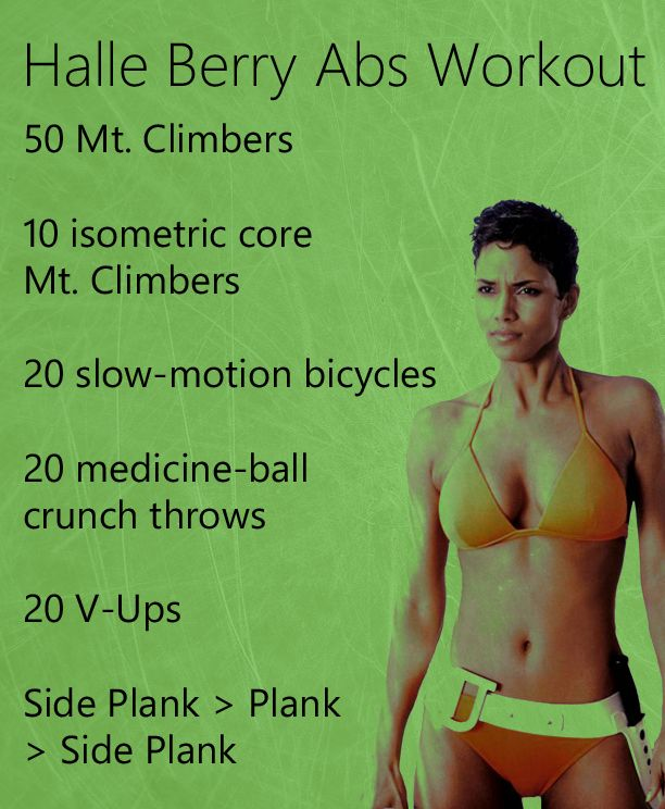 Get Halle Berry's Abs with These 5 Exercises - Anytime Health