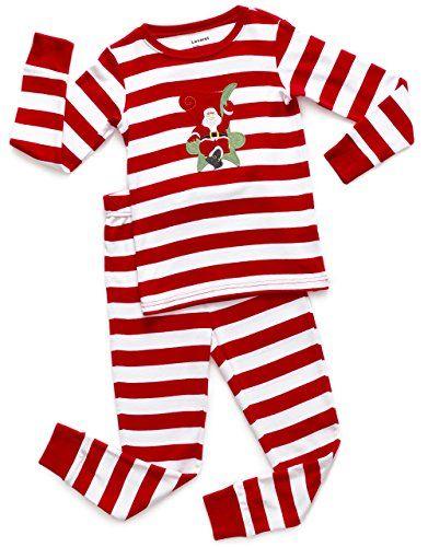 936b463a01 Leveret Kids Christmas Pajamas Boys Girls   Toddler Pajamas Red White Green  2 Piece Pjs Set 100% Cotton (12 Months-14 Years)