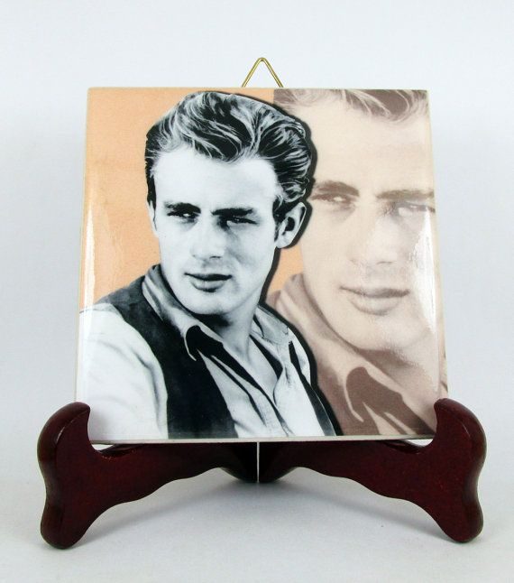James Dean collectible wall hanging ceramic tile by TerryTiles2014