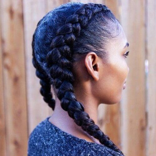 Two Ghana Braid Styles