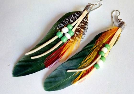 Shopo.in : Buy Feather Earring - Green1 online at best price in Pune, India